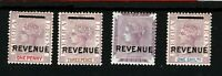 SIERRA LEONE QV Revenues Overprints 1884 Set{4} Mounted Mint MM {samwells}SS3394