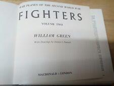War Planes Second Word War - Fighters - Vol 1 - Hardback - Green - 1968