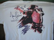 Micheal Jackson This Is It Shirt Adult Size Large