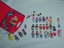 Lot Of Playmobil Figures And Accessories - Firefighters - Santa - Fairy And More