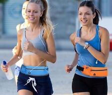 Cool Nylon Waterproof Running Belt Bag Black Extra Space 16 Inches Long