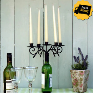 Black 5 Candelabra To Fit In Empty Wine Bottle Candle Holder Home Decor