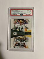Aaron Rodgers PSA 10 2011 Topps Misprint Insert Favre Gem Mint Packers