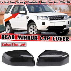 CARBON FIBER ABS Rear View Mirror Cover For Land Rover Range Rover Sport LR2 LR4