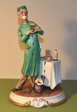 RARE CAPODIMONTE PORCELAIN FIGURE, THE HEART SURGEON/DOCTOR, SIGNED, ITALY