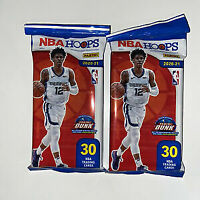 (2) 2020-21 Panini NBA Hoops Cello Fat Pack 60 Cards New Sealed FREE SHIP Lamelo