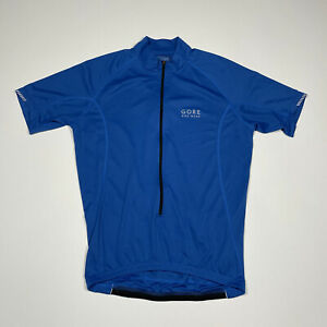 Gore Bike Wear Men's Medium Blue Zip Up Cycling Jersey