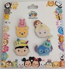 Disney Tsum Tsum 4 Pin Collection- Winnie, Elsa, Pinocchio,Stitch- new+sealed