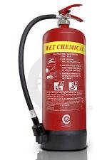 OFFER!! Premium FSS UK Wet Chemical Fire Extinguisher 6 Litre BRITISH KITEMARK