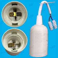 1x vis Edison Blanc Es E27 Ampoule Lampe titulaire 10m socket + bloc terminal