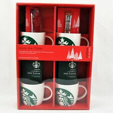 2017 Starbucks 4 x 14 oz. Porcelain Coffee Mug Gift Set