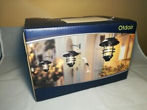 Otdair Solar Wall Lantern Outdoor, 2 Pcs Glass Solar Hanging Lantern Light Water