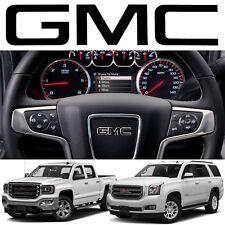 Gloss Black GMC Steering Wheel Emblem Vinyl Decal For 2014-2018 Sierra Yukon New