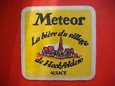 Beer Coaster Drip Mat >< Meteor Ackerland Blonde >< Hochfelden, France Brewery