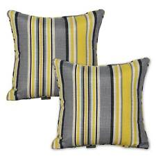 Rio Outdoor Indoor Striped Scatter Throw Cushions (Set of 2 ) - Yellow