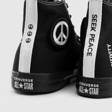 NIB Converse CTAS Hi Seek Peace Black/Black/White 165766F US Mens 12