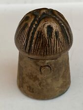Rare antique 19th century novelty brass inkwell in the shape champagne cork.