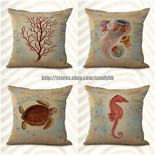 US Seller-4pcs ocean coral reef octopus cushion cover cheap decorating ideas