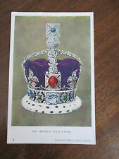 """VINTAGE COLOUR  POSTCARD ,"""" THE IMPERIAL STATE CROWN """"."""