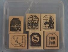 Stampin Up! Too Terrific Tags Set Of 6 Made In USA 2006 Retired Mounted New