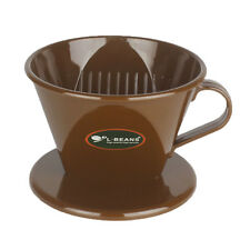 Pour Over Coffee Maker, Plastic Reusable Drip Cone Coffee Filter Cup Brown