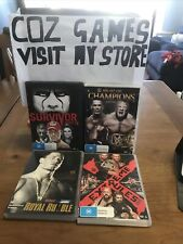 WWF WWE Dvd Bulk Lot Survivor 14 Night Of Champions 14 Royal Rumble 04 Extreme15