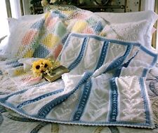 EXQUISITE Baby Afghans + Bonus Rose Afghans/Crochet Pattern INSTRUCTIONS ONLY