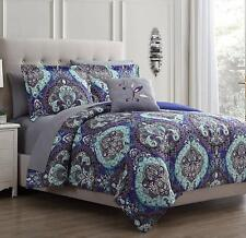 Amrapur Overseas Cathedral 8-Piece Printed Reversible Bed in A Bag, Twin, Purple