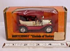 MATCHBOX MODEL OF YESTERDAY 1911 FORD MODEL T Y-1 BOXED