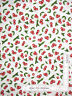 Kitchen Cherry Fruit Toss White Cotton Fabric QT Home Sweet Home By The Yard