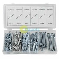 500 Piece Trade Cotter Pins Split Pin Assortment Box Kit Set Workshop Garage NEW