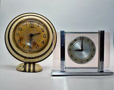 New ListingA Great Pair if Art Deco Clocks Ingersall Mercury and Westclox Leland Need Work