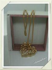 Damen Halskette Bettelkette Modekette Modeschmuck Lang  Herz Rosè Gold Trend