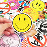 50pcs Cool Circle Car Sticker Graffiti Skateboard Luggage Decal Random Mix