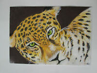 Hand drawn animal pictures, Original Contemporary LEOPARD
