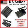 Li-ion Lithium Smart Charger 2 4 6 Slot for 16340/18650/14500/26650 3.7V RCR123