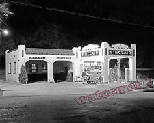 Photograph of a 1939 Sinclair Gas Station in San Augustine Texas 8x10