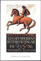 POSTCARD - XVI GIOCHI OLIMPICI OLIMPIADI OLYMPIC GAMES STOCKHOLM STOCCOLMA 1956