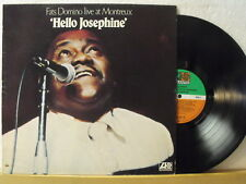 "12"" LP - FATS DOMINO - Live At Montreux (Hello Josephine) - German Atlantic 1974"