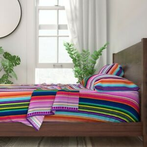 Serape Serape Mexican Mexican Inspired 100% Cotton Sateen Sheet Set by Roostery