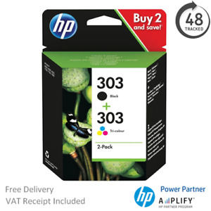Original HP 303 Black & Colour Ink Cartridge 3YM92AE Multipack T6N01AE / T6N02AE