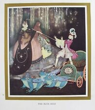 OLD VINTAGE PRINT by EDMUND DULAC PRINCE FROG COACH BLUE BIRD FAIRY TALE c1917