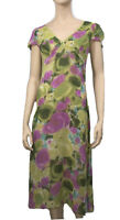 KATHERINE SIZE 12 ABSTRACT FLORAL MIDI DRESS