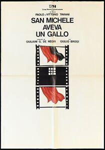 SAN MICHELE AVEVA UN GALLO MANIFESTO TAVIANI 1972 ST. MICHAEL MOVIE POSTER 1F