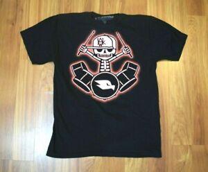 Boys Tony Hawk Skeleton Drummer T Shirt Size XL Short Sleeve Black