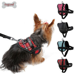 Small Dog Cat Harness Adjustable Pet Soft Vest W/ Patches for yorkie toy poodle