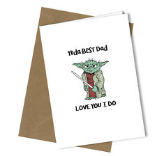 Greetings Card Yoda Comedy Rude Funny Humour Fathers Day / Birthday Card #208