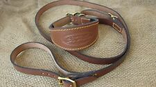 Leather greyhound collar and lead set solid brass fittings.