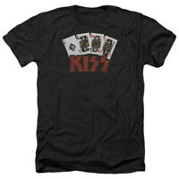 KISS Rock Band CARDS Licensed Adult Heather T-Shirt All Sizes