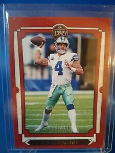 Dak Prescott 2019 Legacy Red Parallel #/299 Dallas Cowboys #27